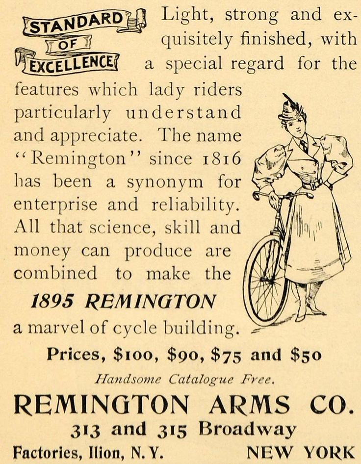 1895 Ad Remington Arms Bicycle Pricing Broadway NY - ORIGINAL ADVERTISING LHJ3