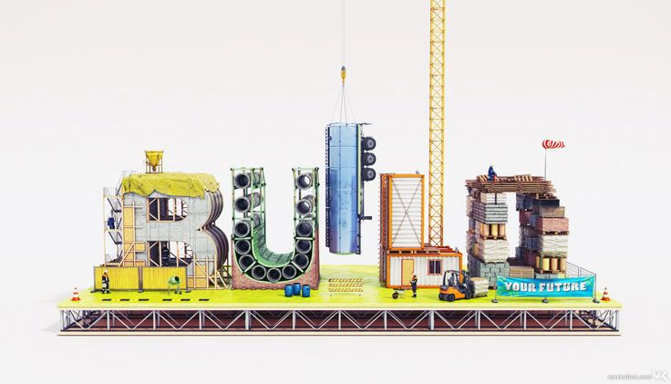 Creative 3D Typography