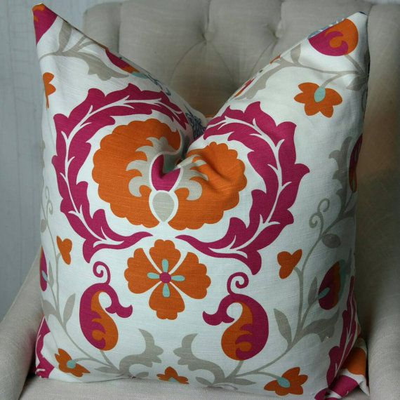 High End Designer Throw Pillows Part - 28: Designer Pillow Cover, Both Or One Sided Pillow Cover, High End Designer  Pillow, Accent Pillow, 03722 Pumpkin Fabricut Pillow