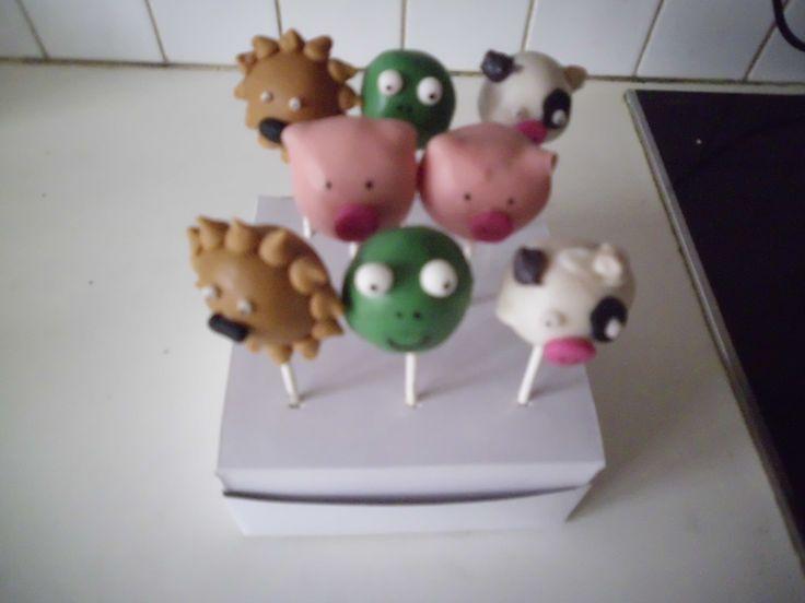 cakepops dieren