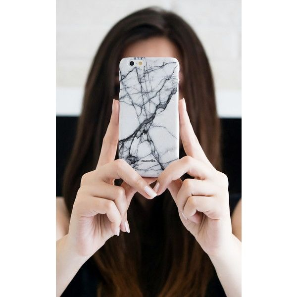 Madotta White Marble Iphone Case (4755 DZD) ❤ liked on Polyvore featuring accessories, tech accessories, apple iphone cases, white iphone case, iphone headphones, white headphones and iphone sleeve case
