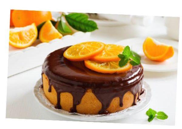 Torta+all'arancia+con+cioccolato