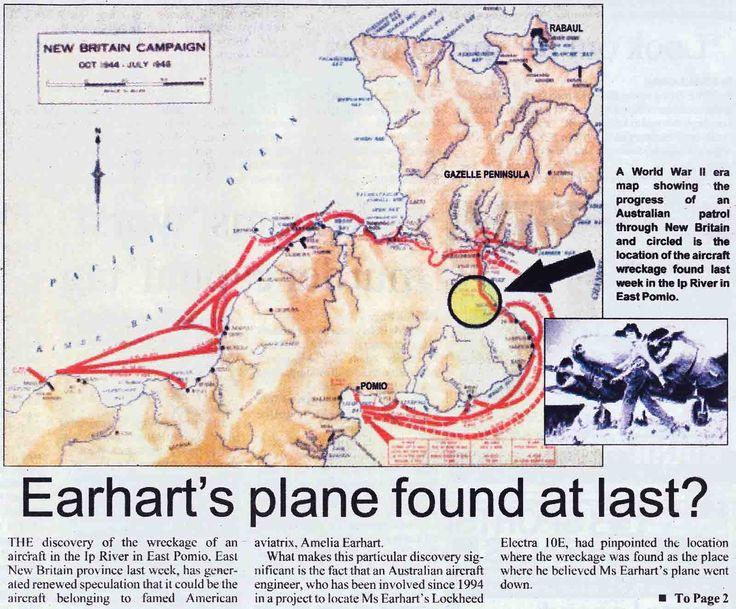 Amelia Earhart plane   Amelia Earhart Found Dead