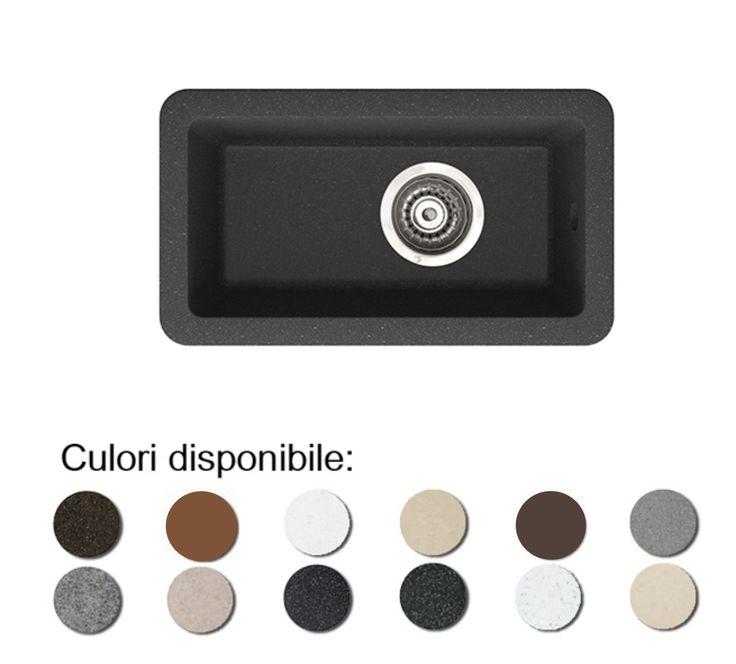 Chiuveta de bucatarie din granit compozit Fado, cuva dreptunghiulara ingusta anticalcar. Chiuveta este disponibila in mai multe culori, puteti alege de mai jos culoarea preferata!