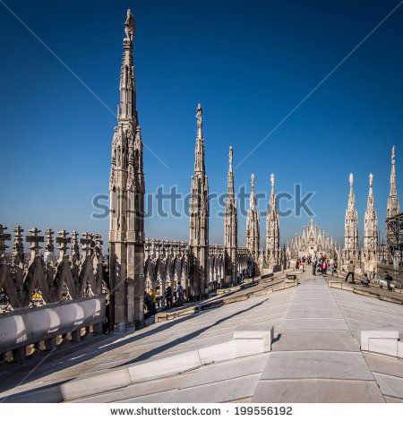 Duomo cathedral of Milan - - stock photo