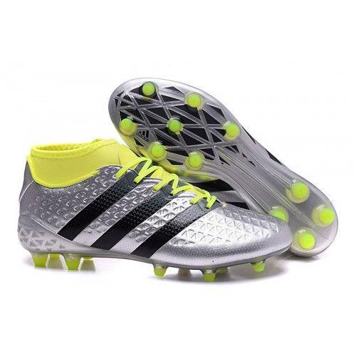 Ace 16.3 Primemesh, Chaussures de Football Homme, Noir (Core Black/Core Black/Solar Yellow), 47 1/3 EUadidas