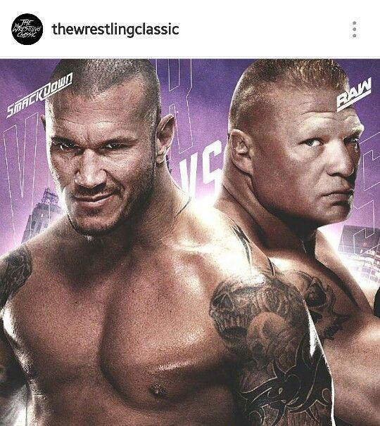 Found this on the Wrestling Classic on Instagram...follow them! Randy Orton vs Brock Lensar
