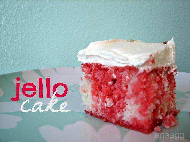 Cake Recipe With Strawberry Jello: Jello Cake--easy And Moist And Yummy