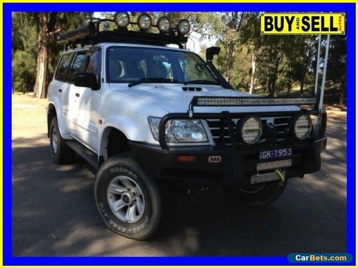 2003 Nissan Patrol GU III ST-L (4x4) White Manual 5sp M Wagon #nissan #patrol #forsale #australia