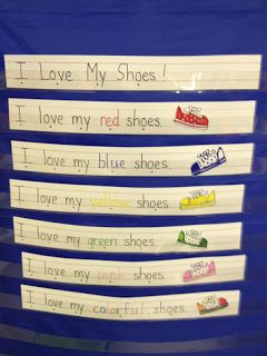 Pete the Cat - teaching color with shoes, site has several activities to do with book