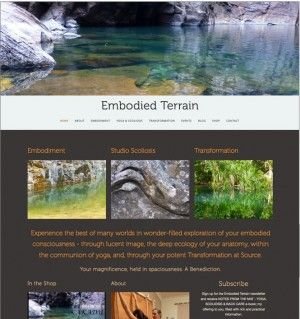 Embodied Terrain - Yoga for Scoliosis website