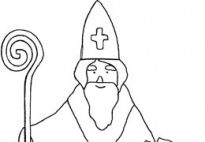 saint maxamillion kolbe coloring pages | St. Nicholas - Coloring Page for preschool and ...