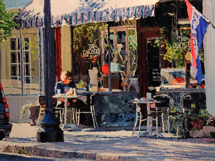 Cascades Urban landscape oil painting by Kenneth Young www.kenyoungfineart.com