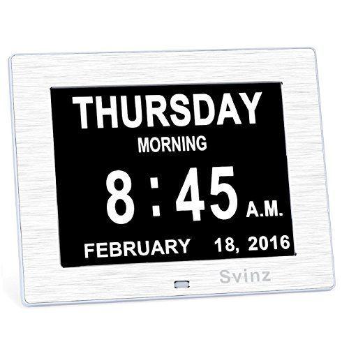 Upgraded - Svinz Memory Loss Day Clock Digital Calendar -... ...
