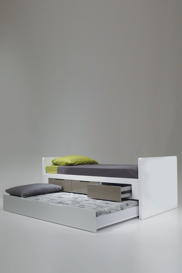 Jack & Jill Single Trundle Bed - White