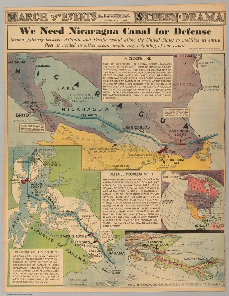 """We Need Nicaragua Canal for Defense"", published in the San Francisco Examiner on Feb 12, 1939"