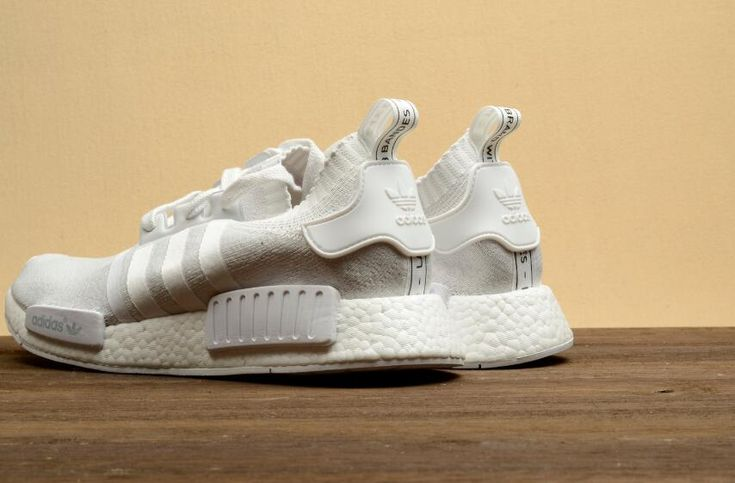 Authentic Adidas Originals NMD_R1 BA8630 All White Walking Shoes DHL Free Shipping for Sportman_09