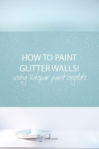 Glitter painted walls for our bedroom! OMG!