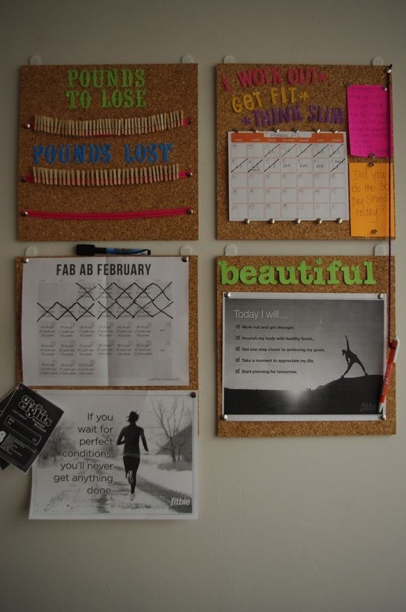 fitness motivation wall