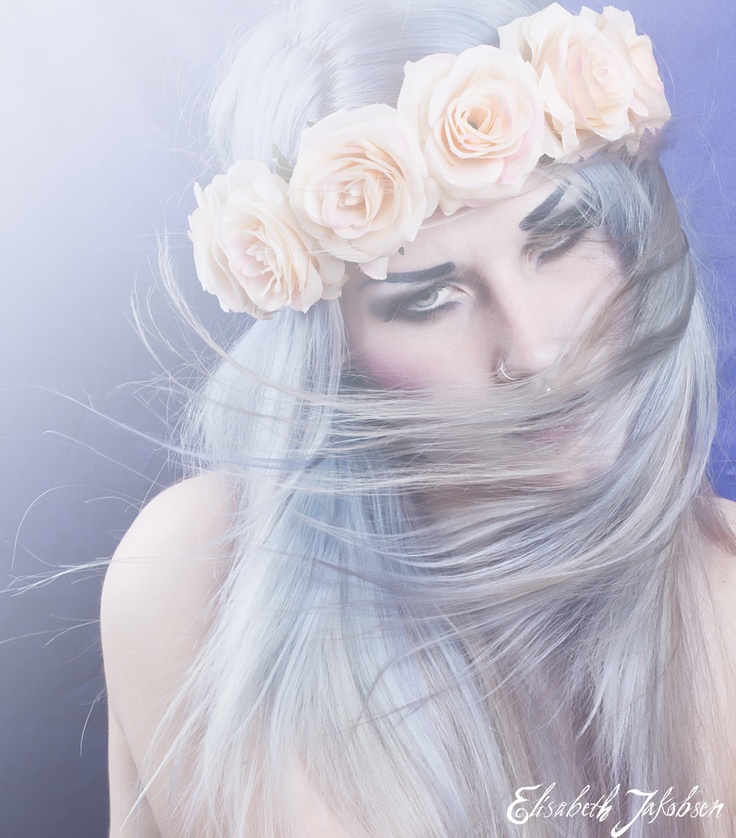 Self Portrait #roses #blue #hair