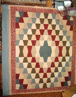 Froggy's Quilts and Things: Tumbler Quilt                                                                                                                                                                                 More