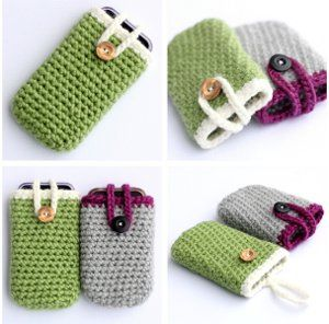 Crocheted iPhone Cozy: free pattern