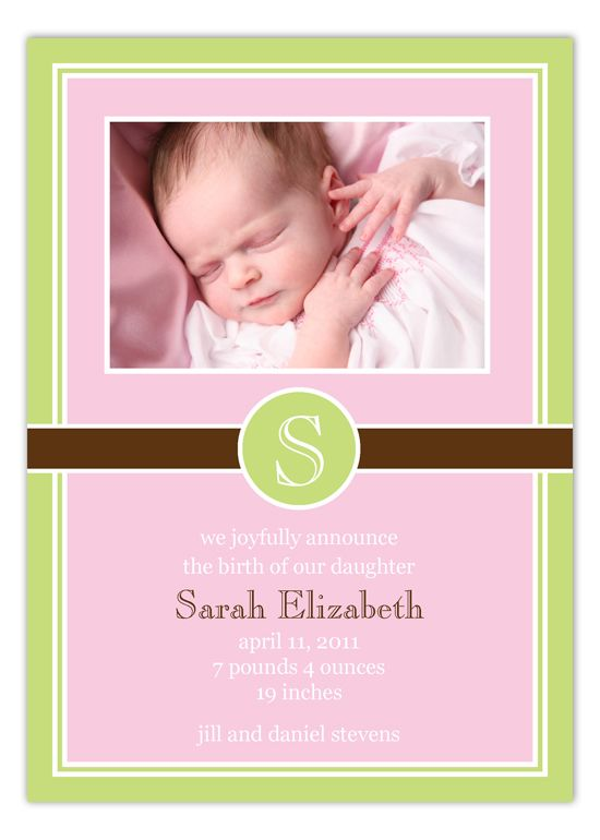 78 Best images about Beautiful Birth Announcements – Inexpensive Birth Announcements