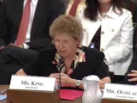 Martha King's Testimony at the Congressional Subcommittee on Transportation Security.