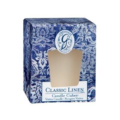 Greenleaf Classic Linen Geurkaarsje / Candle Cube / Votive