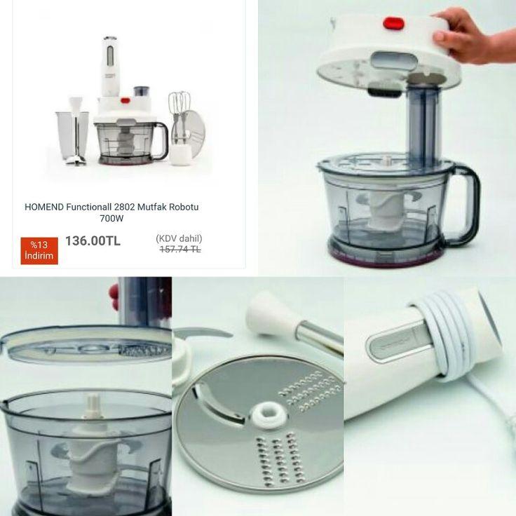 #HOMEND #Functionall 2802 #Mutfak Robotu 700W  ÖDEME SEÇENEKLERİ Tüm Kredi Kartlarına 9 Taksit Kapıda Ödeme  Havale / Eft   #Mutfakrobotu  tanıtımı için sıradaki  resme bakınız.  http://www.modahan.net/elektrikli-ev-aletleri-ütüler-elektrik-süpürgeleri-blenderlar-tost-makinesi-çay-kahve-makineleri-kettle-meyve-sıkacakları-k-20/blenderlar-k-254/homend-functionall-2802-mutfak-robotu-700w-u-75953.html