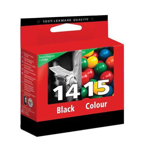 Lexmark 14 Black & 15 Colour Ink Cartridge for printers Z2300 Z2310 Z2320 X2600 X2630 X2650 - Lexmark 80D2979 HCap Blk&Col No14&15  - http://ink-cartridges-ireland.com/lexmark-14-black-15-colour-ink-cartridge-for-printers-z2300-z2310-z2320-x2600-x2630-x2650/ - 14, 15, black, cartridge, Colour, For, Ink, Lexmark, Printers, X2600, X2630, X2650, Z2300, Z2310, Z2320