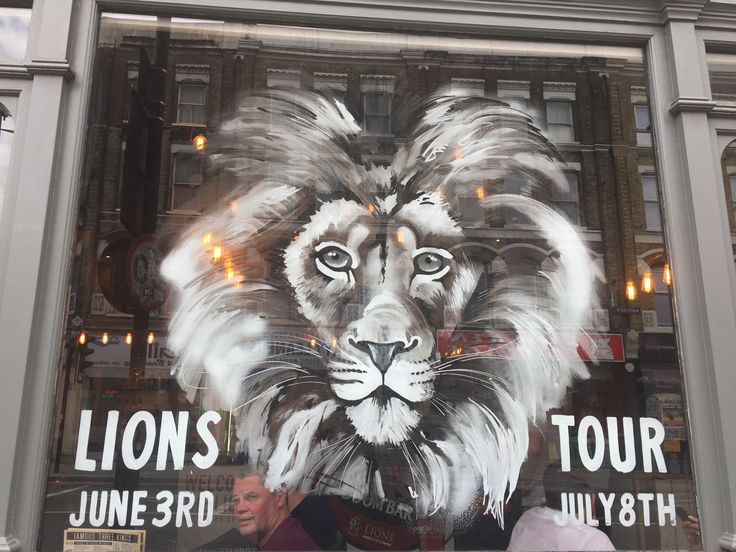 A pub window with the English Rugby Lion (Photos by Henry Boateng)