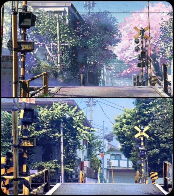 5cm Per Second vs. Real world locations