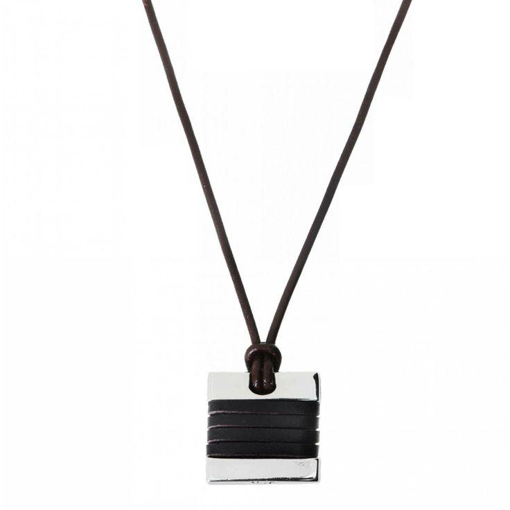 Man bracelet leather black glow - Vanderly