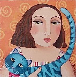 Christilla Germain - Le chat bleu