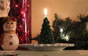 Dress your mantle up this Christmas with a beeswax Green Yule Tree. Too sweet!