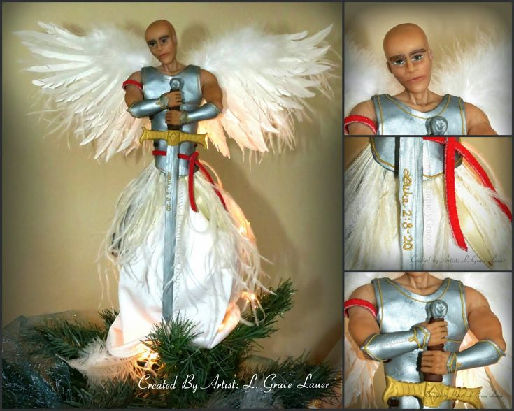 Uniquely Grace: Guardian Warrior Angel Christmas Tree