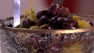 Marinerade oliver med citrus och ingefära