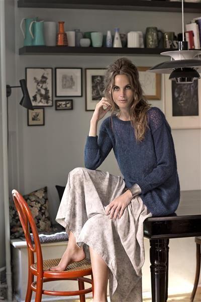 1412: Modell 14 Oversize genser #Silk #knit #strikk