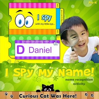FREE resource:  I spy... name song for young children.  Perfect for back-to-school and beginning of the year activities.  Teaches name recognition.