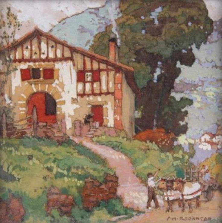 Les 834 meilleures images propos de peinture sur pinterest acryliques peintures l 39 huile for Photos maison basque