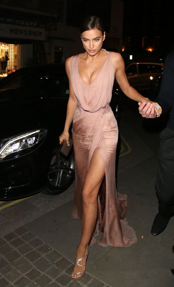Irina Shayk wows in cleavage-baring gown as she watches Bradley Cooper in The…