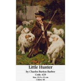 Counted Cross Stitch Model -  Little Hunter by Charles Burton Barber