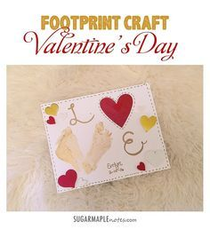 Footprint Valentine's Day Craft for Toddlers and Babies #LOVE