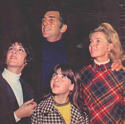 Dean with three of his children.  Deana Martin on left side of picture