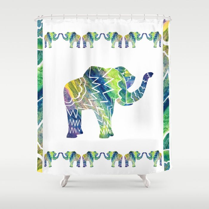 Patchwork Elephant Shower Curtains Bring A Fresh New Feel To An