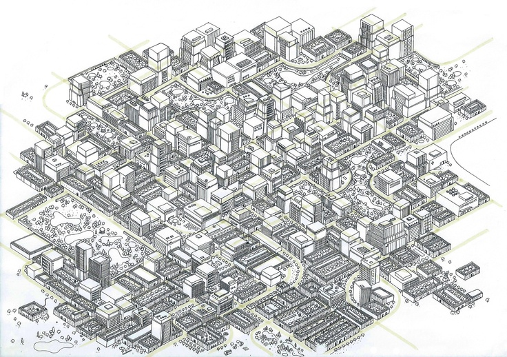 City Landscape I realized on a A4 format for a freelance exhibition that happened in Amsterdam. ( 08/12/12 ) 18 hours details drawing.