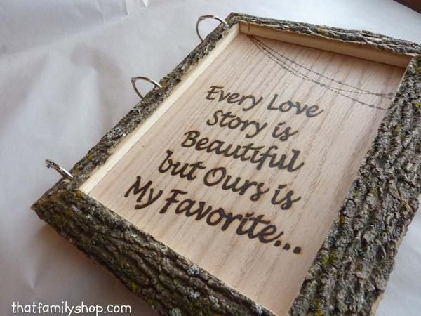 Rustic Wedding Guest Book Customized Parchment Bark Large Names Dates On  Wanelo