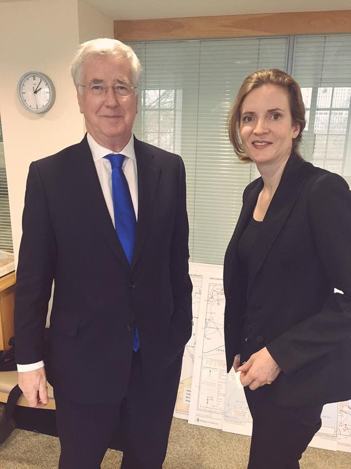 NKM discussing Brexit with British Defense Minister Fallon