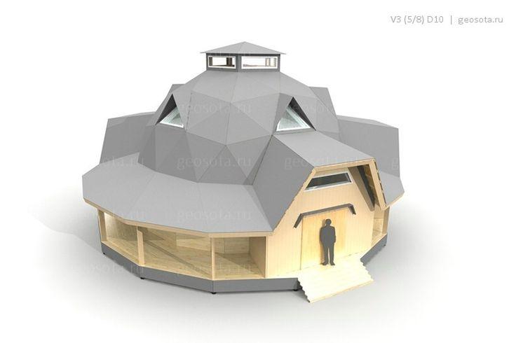 V3D10 — Геосота (универсальный геодезический купол)